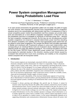 Power System congestion Management Using Probabilistic Load Flow