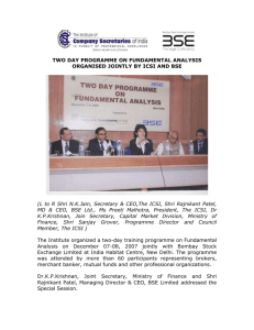 two day programme on fundamental analysis organised jointly