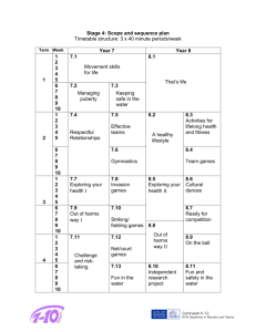Stage 4 Scope and Sequence Plan