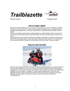 Trailblazette - Sault Trailblazers Snowmobile Club