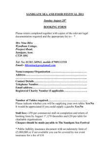 Sandgate Sea and Food Festival 2011 booking form