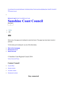SCC fact sheet - Sunshine Coast Council