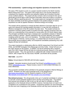 PhD assistantship - People Server at UNCW