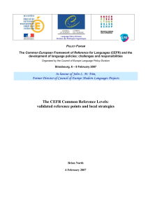 The Common European Framework of Reference for Languages: an