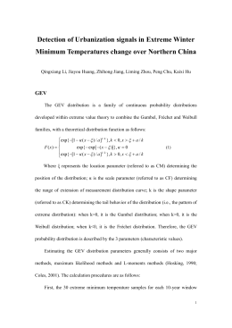 Effects of Urbanization in Northern China on Extreme Minimum