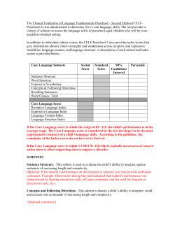 Clinical Evaluation of Language Fundamentals (CELF-5) 9