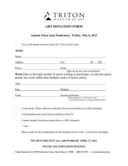 Art Donation Form as Word Doc