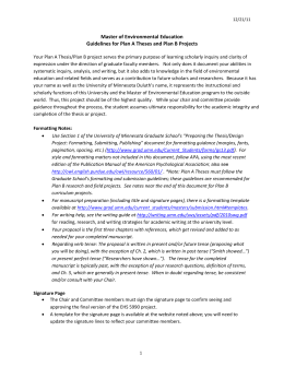 THE RESEARCH PROPOSAL - University of Minnesota Duluth