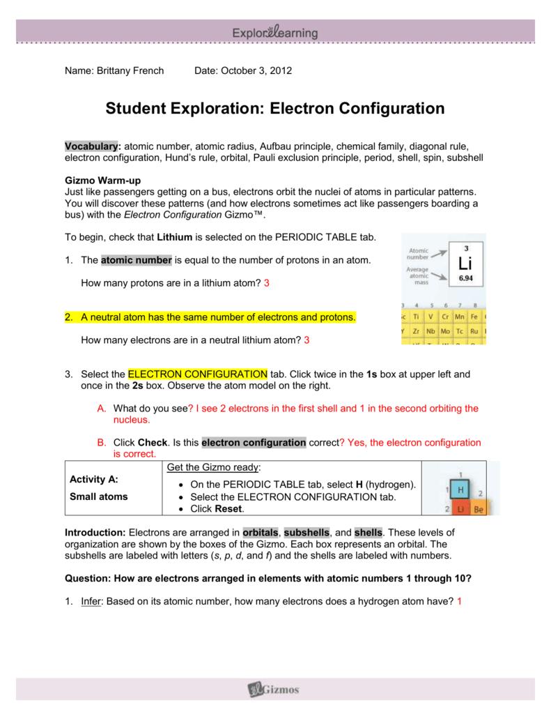 Electronconfiguratiobrittanyf urtaz Choice Image