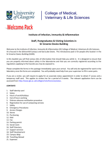 I&I Welcome Pack - University of Glasgow