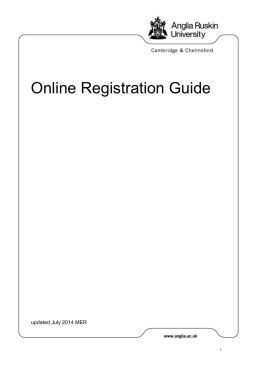 Online Registration Guide