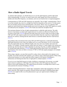 How Signals Travel - Tri County Amateur Radio Club WX4TC
