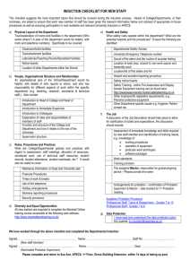 Induction Checklist - Swansea University