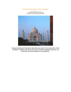 Stones and Marbles of the Taj Mahal © 2002 Armchair Travel Co