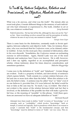 Subjectivism, Relativism, and Emotivism