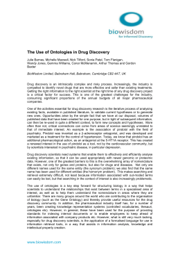 The Use of Ontologies in Drug Discovery