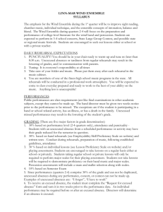 Wind Ensemble Syllabus - Linn-Mar Community School District