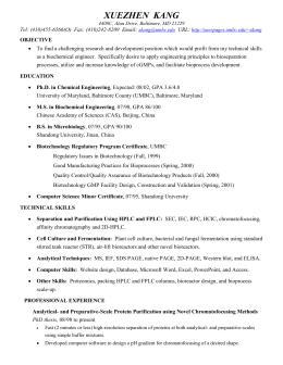 resume of xuezhen kang