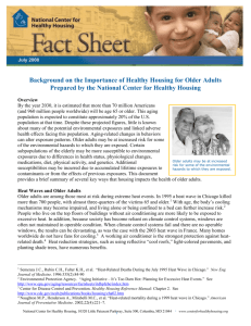 Healthy Homes and Older Adults - National Center for Healthy