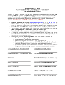 Proctored Exam Request Form - Moultrie Technical College
