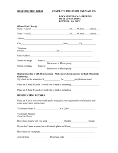 REGISTRATION FORM - Rock Mountain Gathering