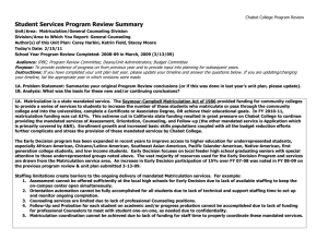 Student Services Program Review Summary
