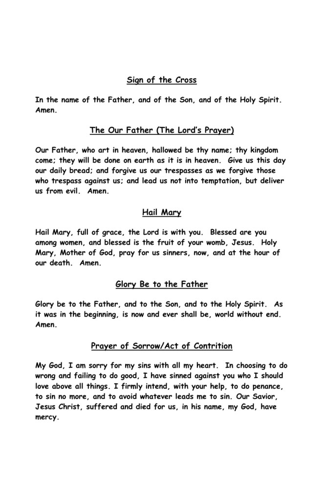 Prayer Book - St  Paul Roman Catholic Church