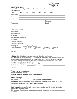 Regular giving form