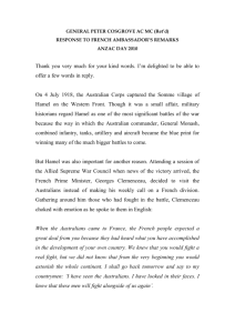 Speech given by General Peter COSGROVE, Chairman, Council of