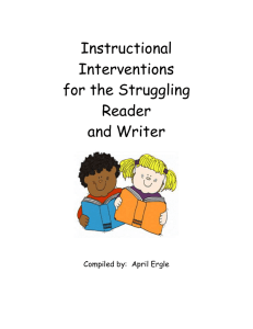 Instructional Interventions