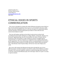 476: Ethical Issues in Sports Communication