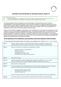 Guidance for Exporters of Archaeological Objects