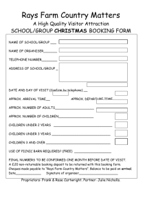 School / Group booking form