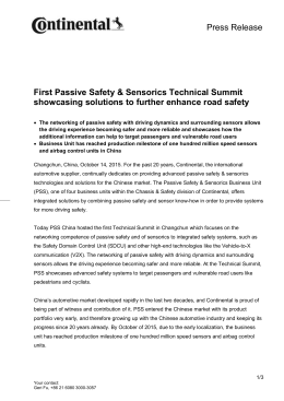 First Passive Safety & Sensorics Technical Summit showcasing