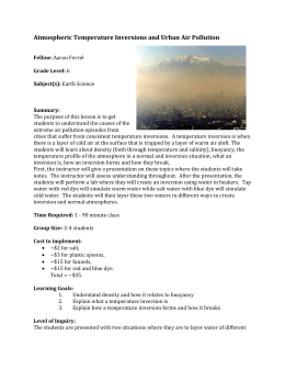 Atmospheric Temperature Inversions and Urban Air Pollution