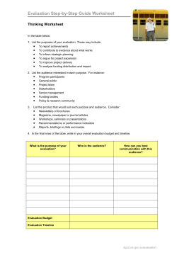 Thinking Worksheet