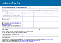 Risk assessment and Policy Templat