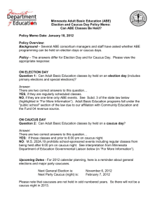 Election and Caucus Day Policy Memo