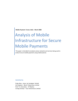 Analysis of Mobile Infrastructure for Secure Mobile Payments