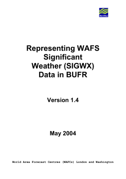 Representing WAFS Significant Weather (SIGWX)