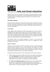 Jobs and forest industries