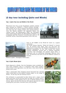 CTH3 – Quito, City tour with Middle of the World