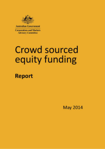 Crowd sourced equity funding - Corporations and Markets Advisory