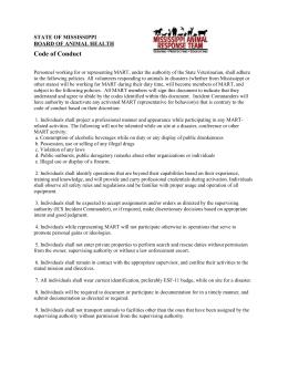Code of Conduct - Mississippi Board of Animal Health
