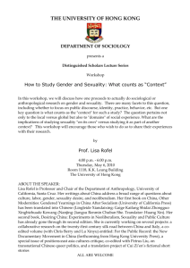 "How to Study Gender and Sexuality: What counts as ""Context"""