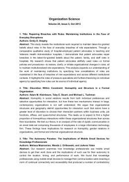 ambidextrous organization ambidextrous design and knowledge integration management essay Strategic learning and knowledge management  strategic flexibility and competitive advantage in the 21st century  and organization design strategic management .