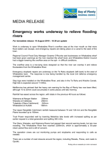 Emergency works underway to relieve flooding rivers