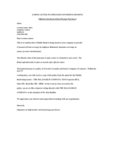 SAMPLE LETTER TO EMPLOYER CONFIRMING BONDING