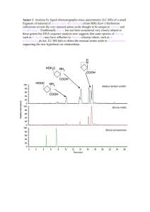 Annex 1: Analysis by liquid chromatography