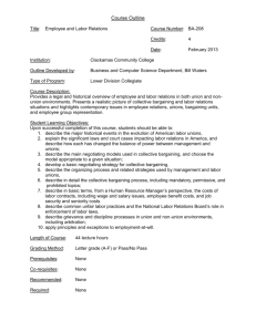 Outline Update BA 208 Employee & Labor Relations